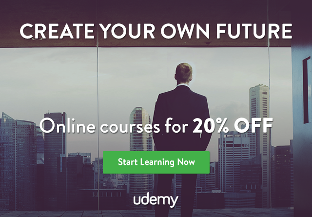 Create your own future. Take an online course for 20% off.